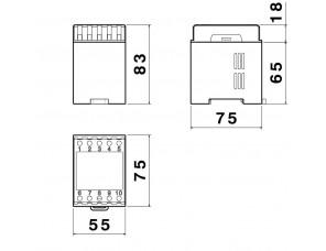 DIN 75 X 55/ 2 T.I