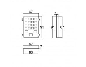 TECLADO 63X86
